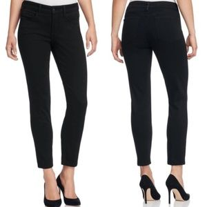 NYDJ Black Clarissa Stretch Ankle Skinny Jeans 14
